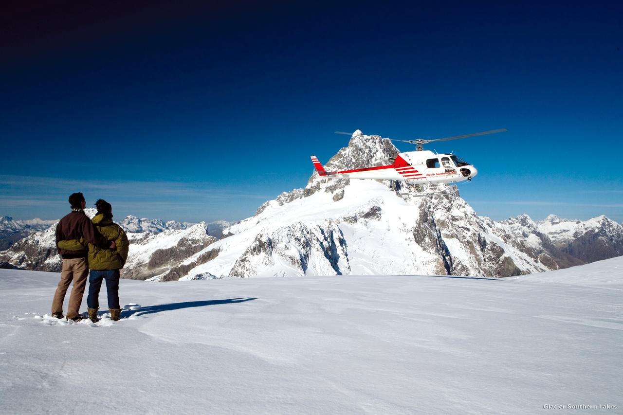 Vol au dessus des glaciers