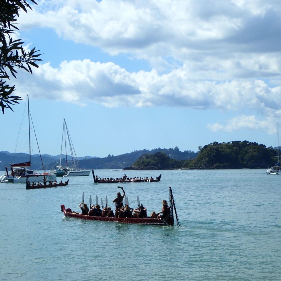 Waka lors du Waitangi Day en Nouvelle Zélande