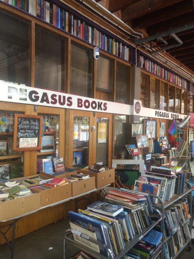 Pegasus Books, une des librairie de Wellington.