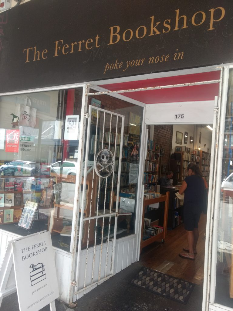 The Ferret Bookshop, librairie a Wellington.