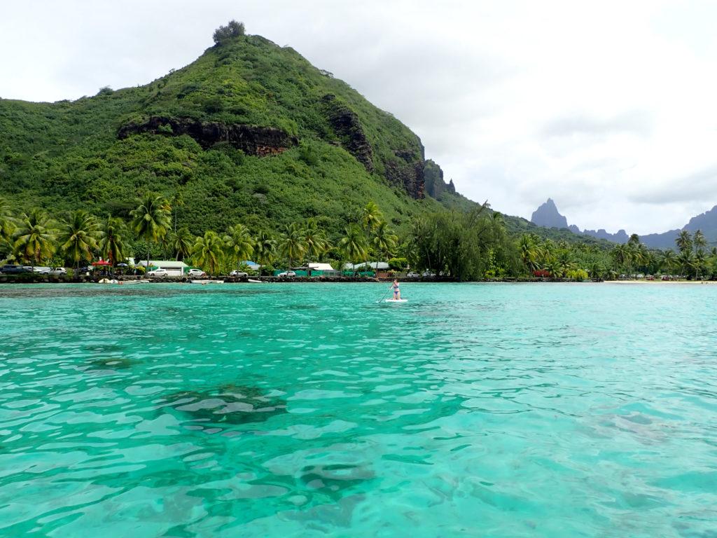 Paddle Board en Polynésie Française depuis la plage de Ta'ahiamanu